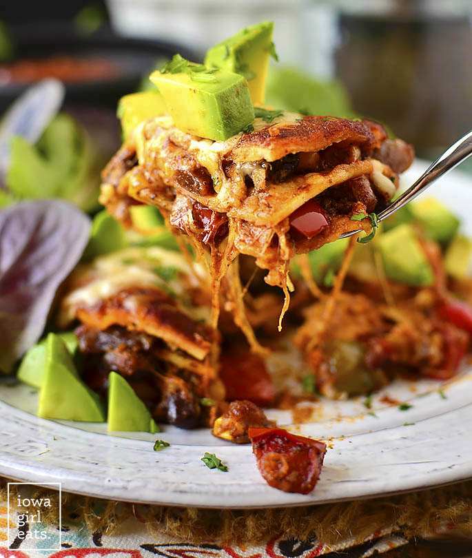Mini vegetarian enchilada stacks iowagirleats 02
