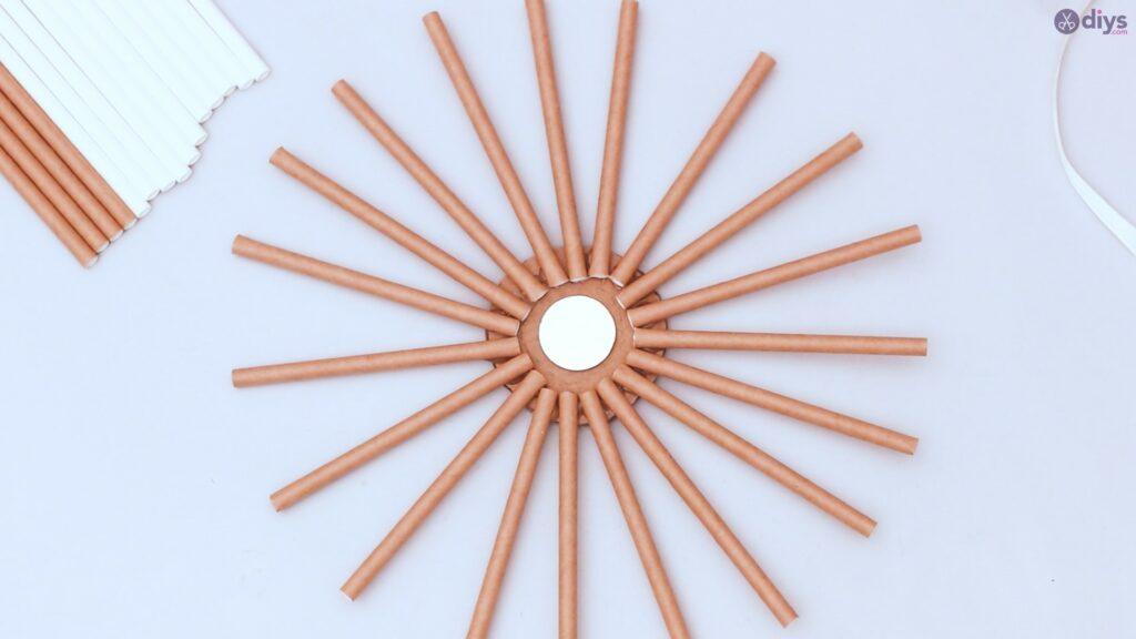 Paper straw wreath diy (14)