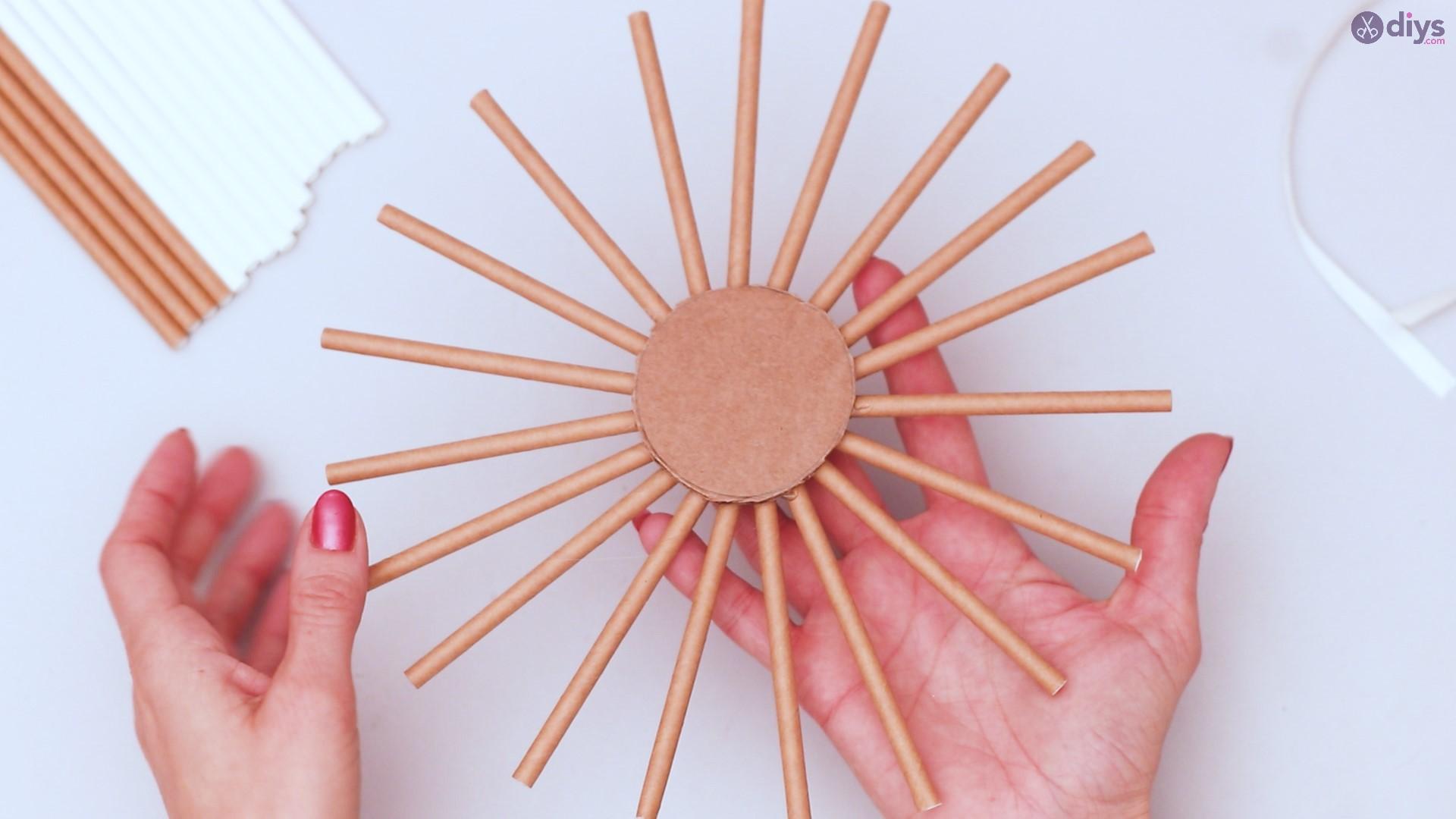 Paper straw wreath diy (15)