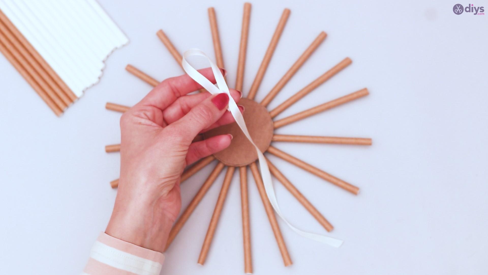 Paper straw wreath diy (16)