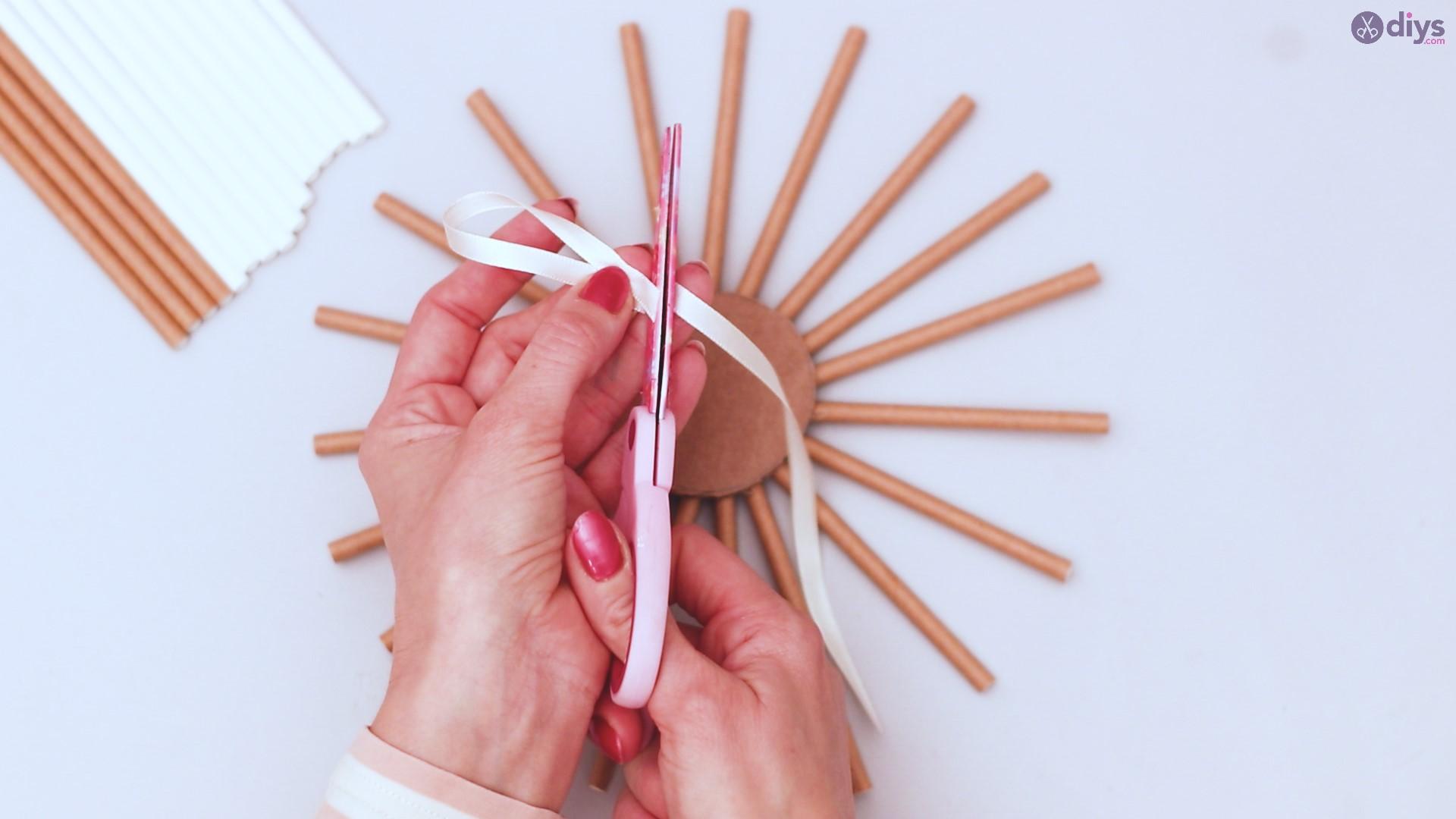 Paper straw wreath diy (17)