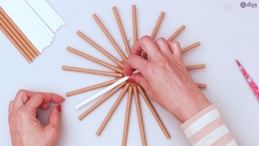 Paper straw wreath diy (22)