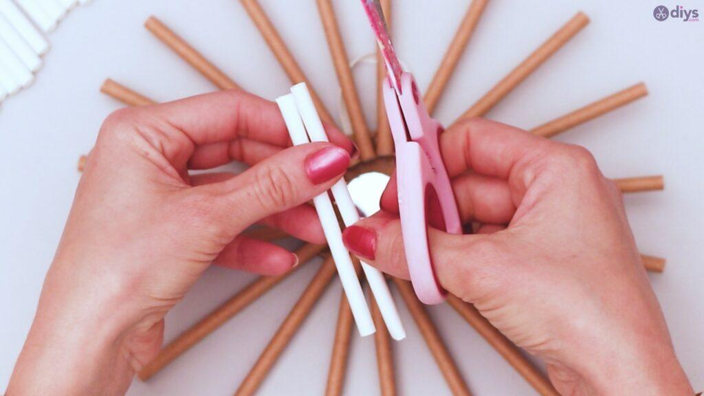 Paper straw wreath diy (24)