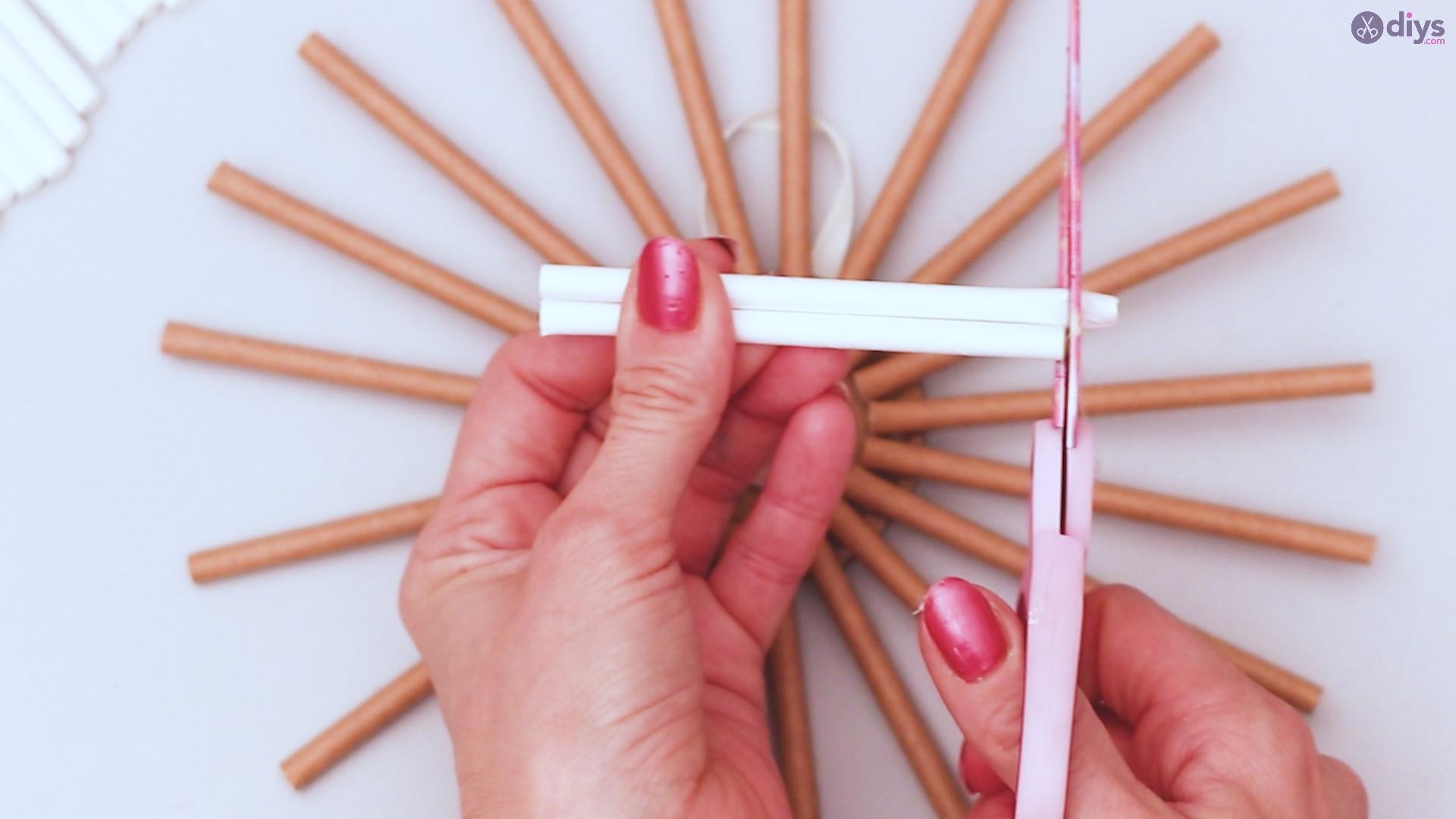 Paper straw wreath diy (25)