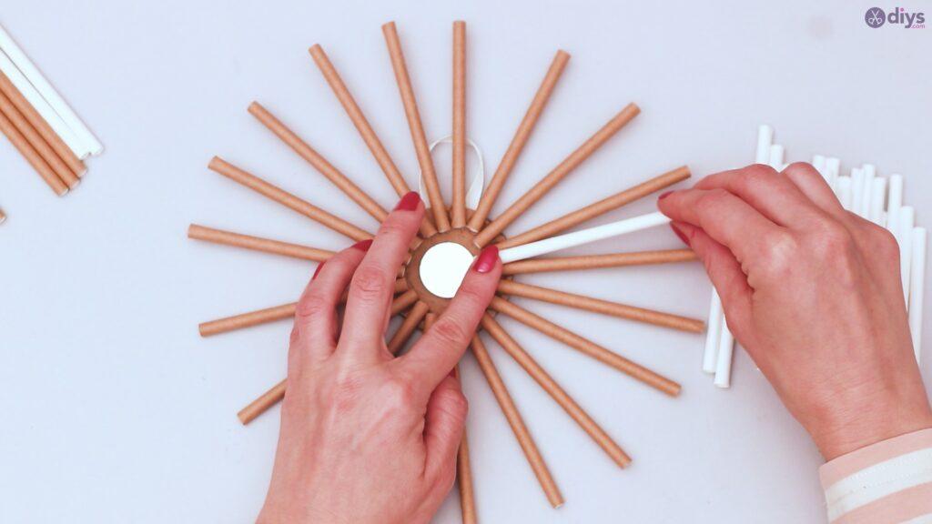 Paper straw wreath diy (29)