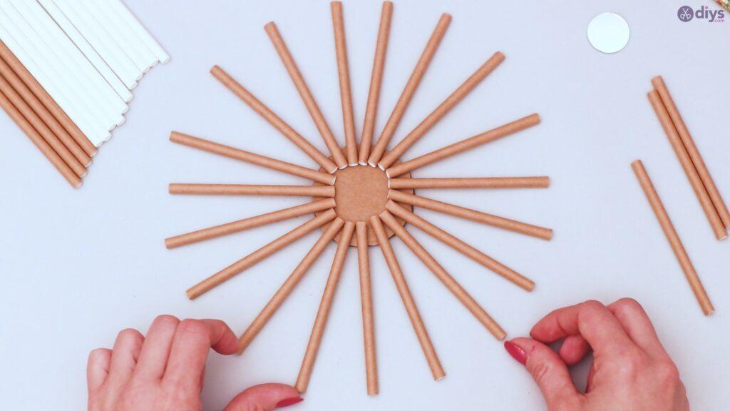 Paper straw wreath diy (3)
