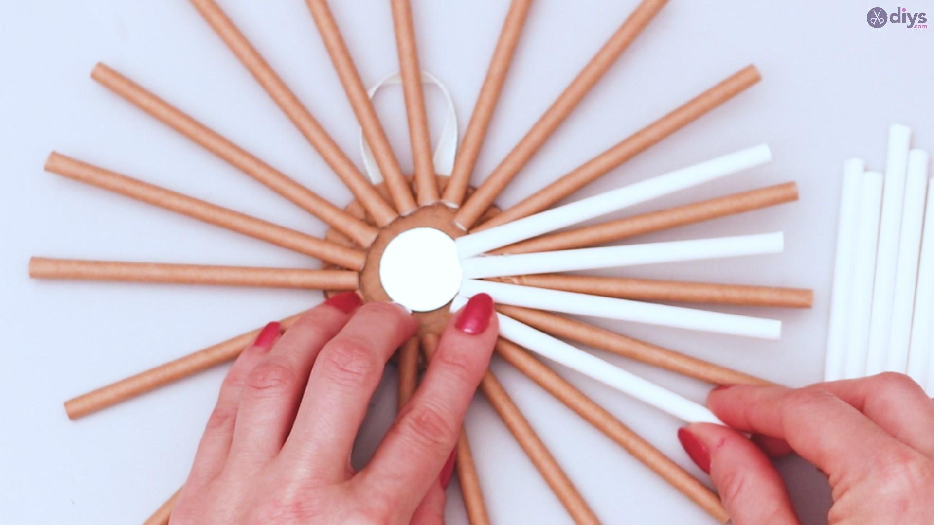 Paper straw wreath diy (31)