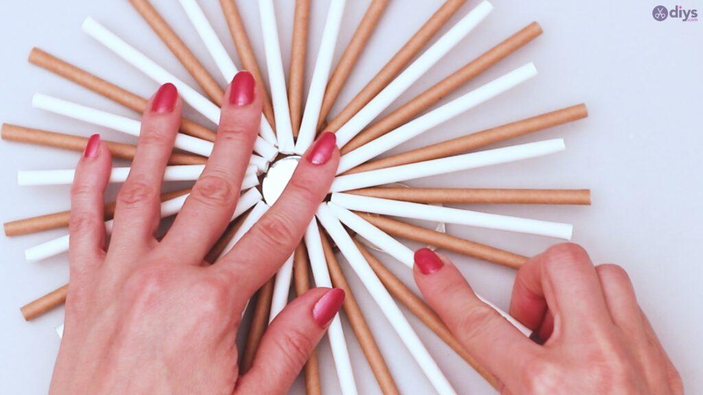 Paper straw wreath diy (33)