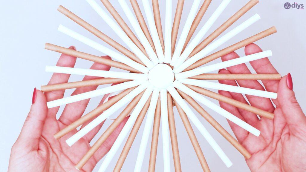 Paper straw wreath diy (34)