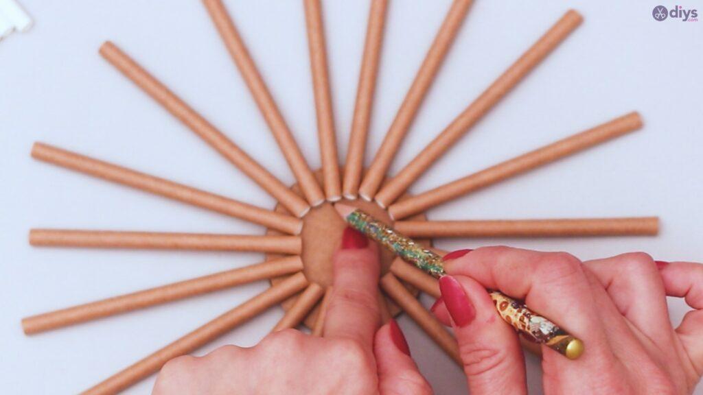 Paper straw wreath diy (4)