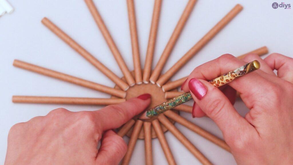 Paper straw wreath diy (5)