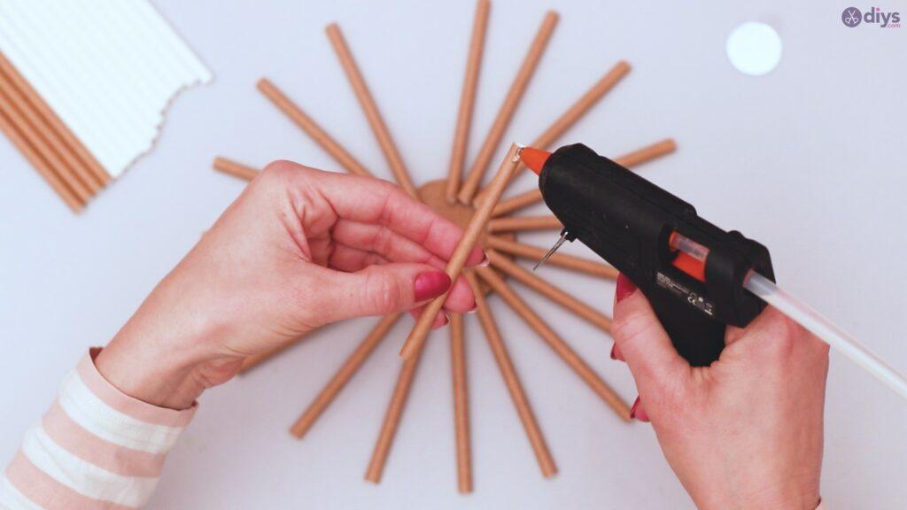 Paper straw wreath diy (6)