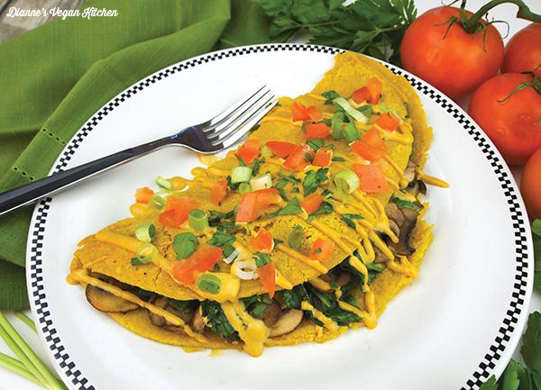 Spinach mushroom omelet