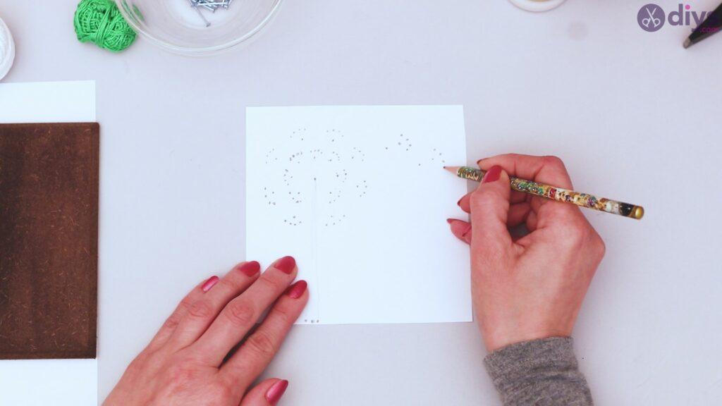 String dandelion wall art step 1 (11)
