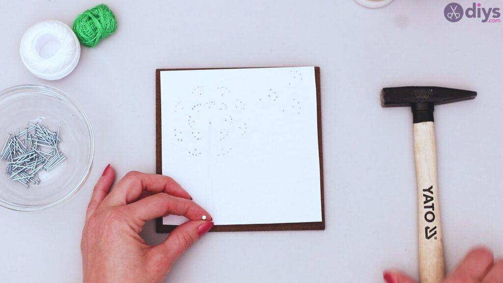 String dandelion wall art step 1 (13)