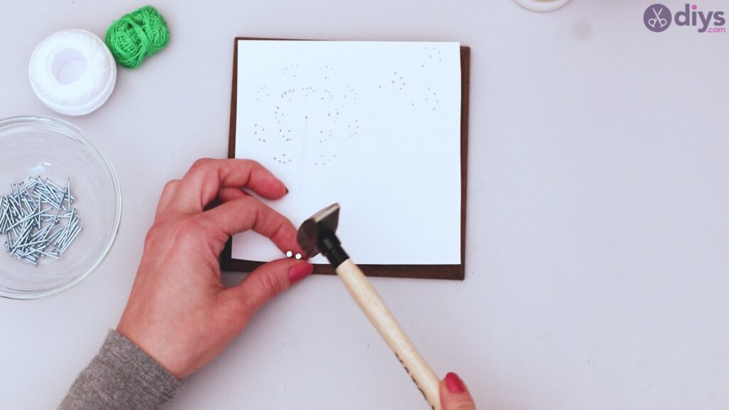 String dandelion wall art step 1 (14)