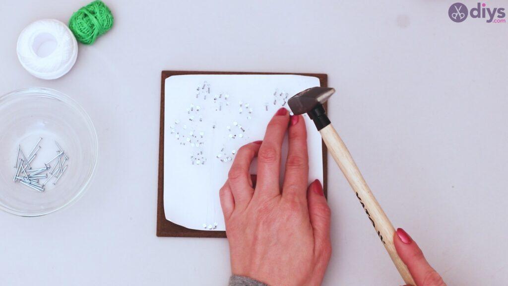 String dandelion wall art step 1 (16)