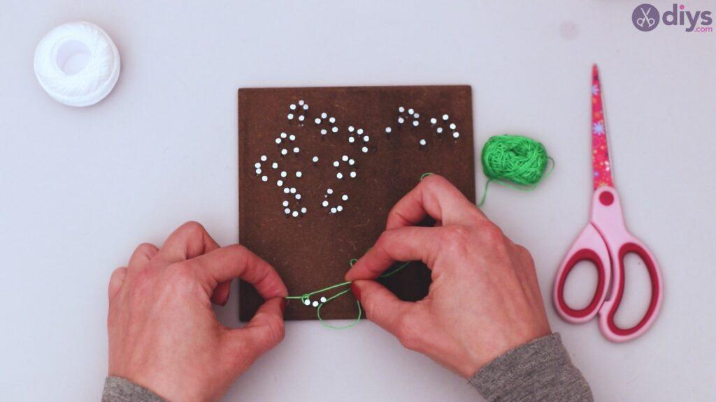 String dandelion wall art step 1 (20)
