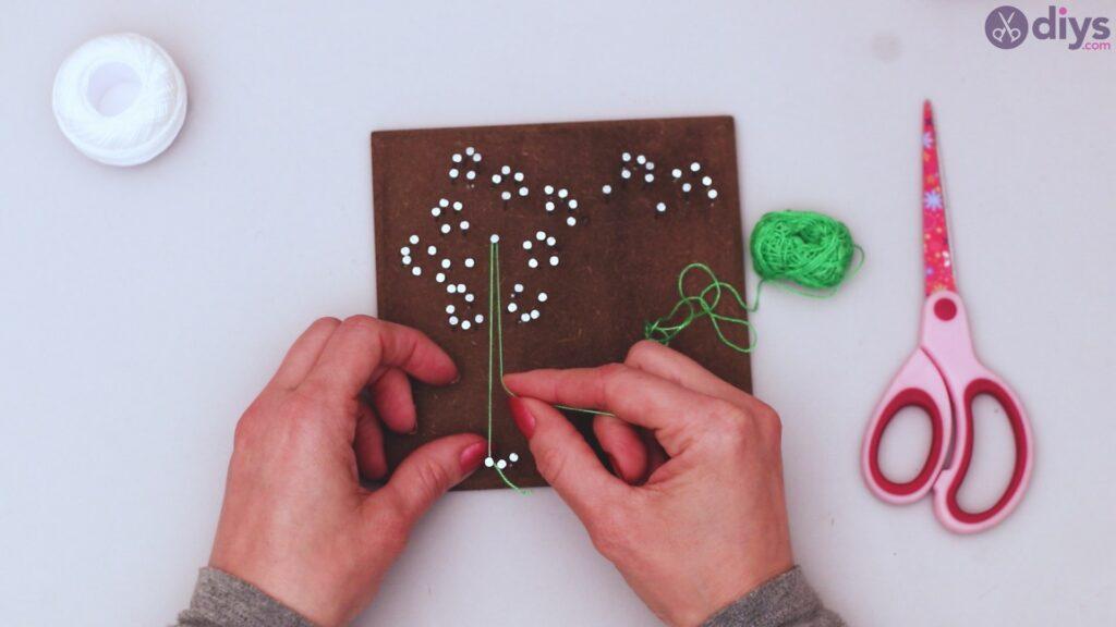 String dandelion wall art step 1 (21)