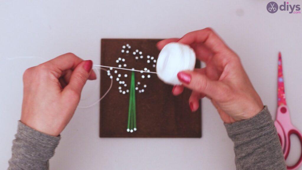 String dandelion wall art step 1 (24)