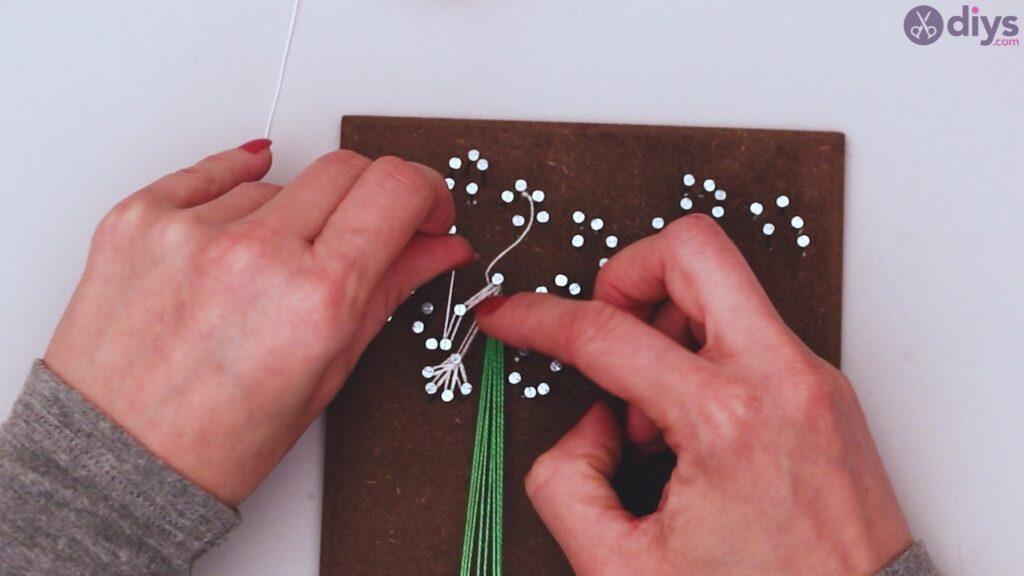 String dandelion wall art step 1 (28)