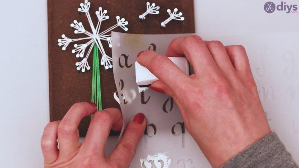 String dandelion wall art step 1 (36)