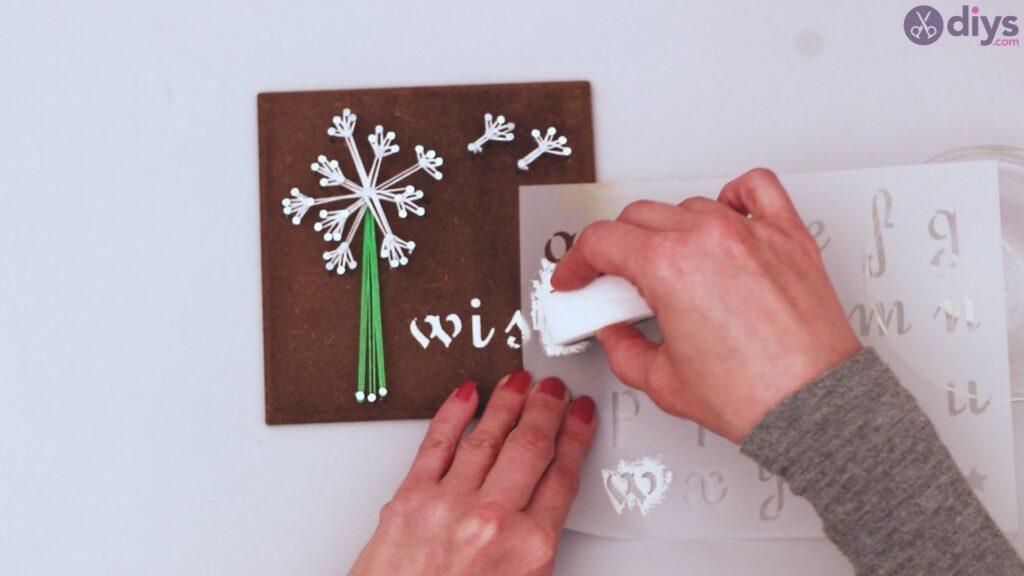 String dandelion wall art step 1 (38)