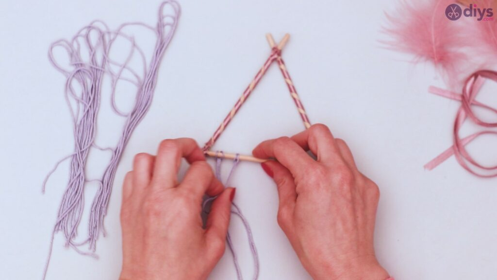 Triangle dreamcatcher diy project step 1 (25)