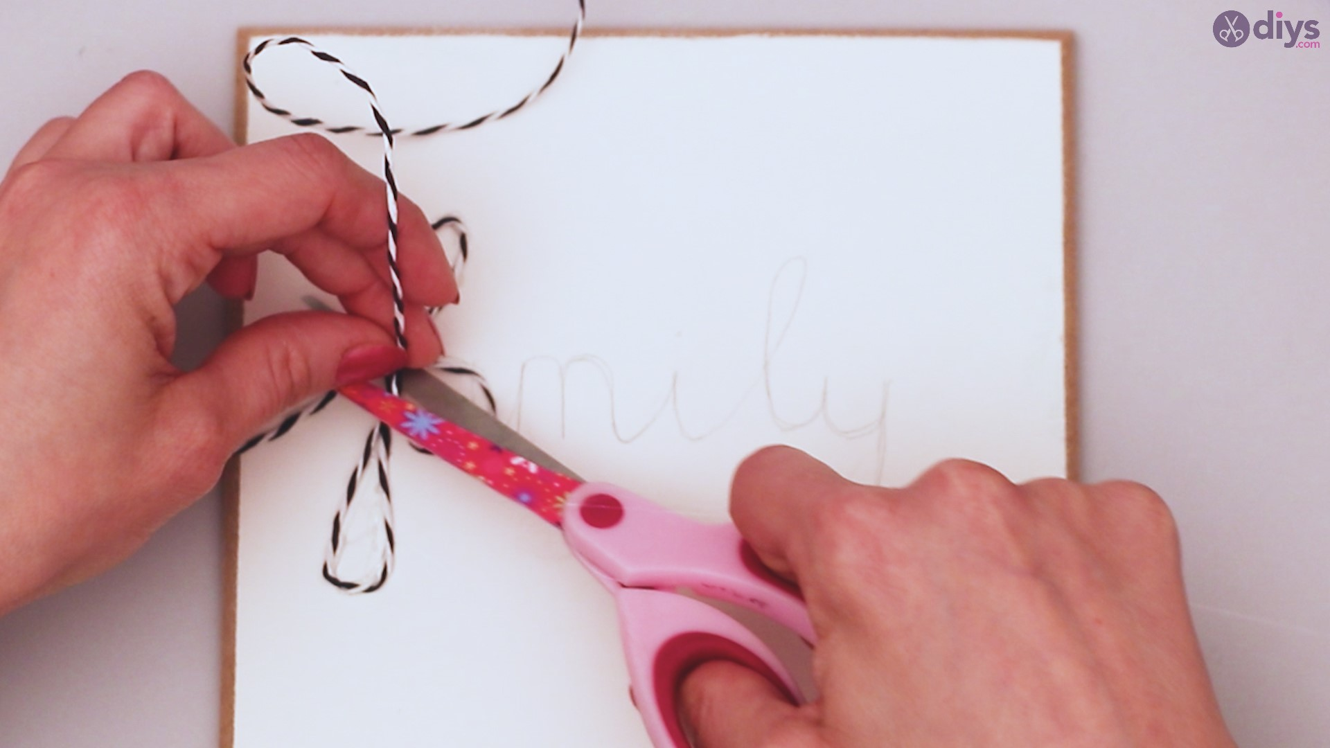 Twine string wall decor diy simple project (11)