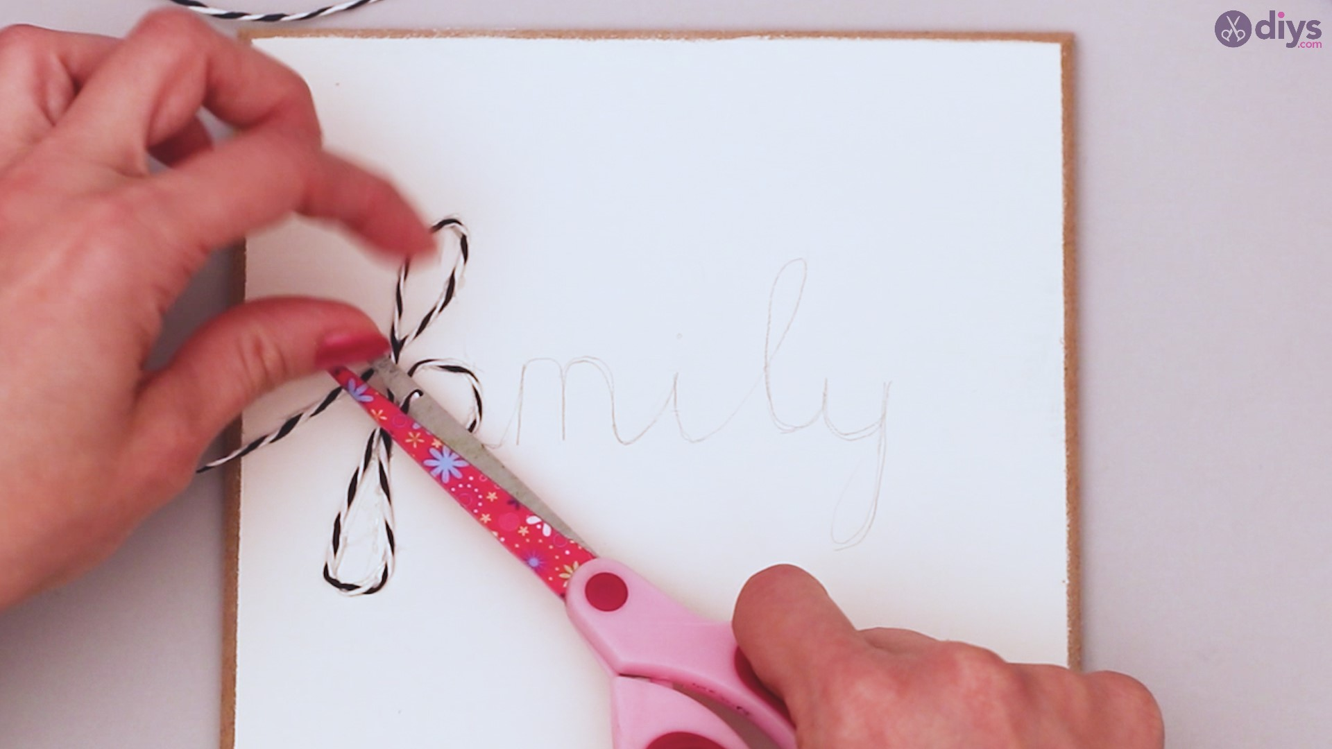 Twine string wall decor diy simple project (13)