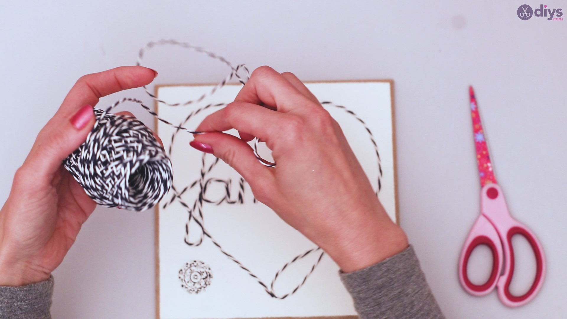 Twine string wall decor diy simple project (29)