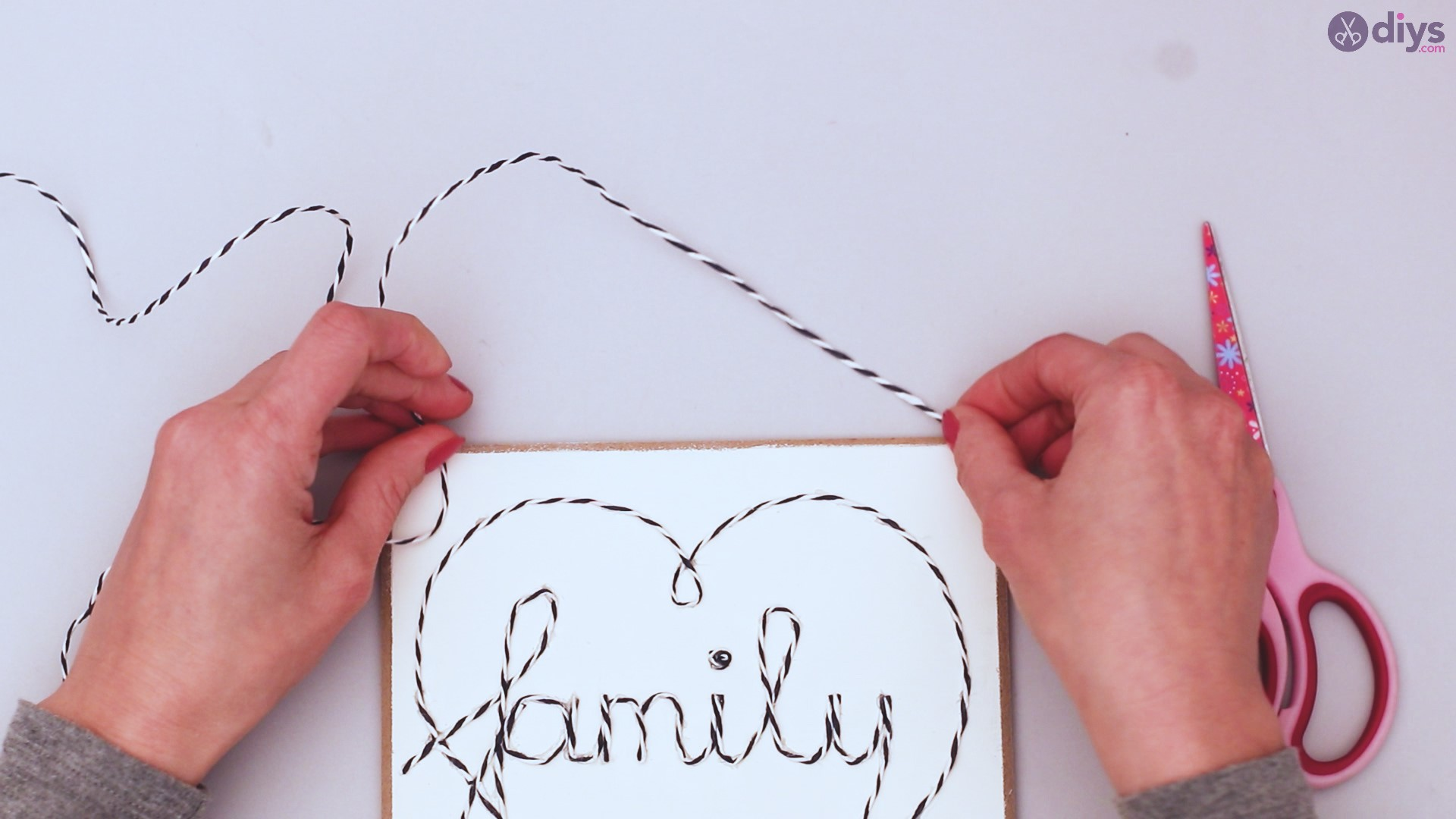 Twine string wall decor diy simple project (30)
