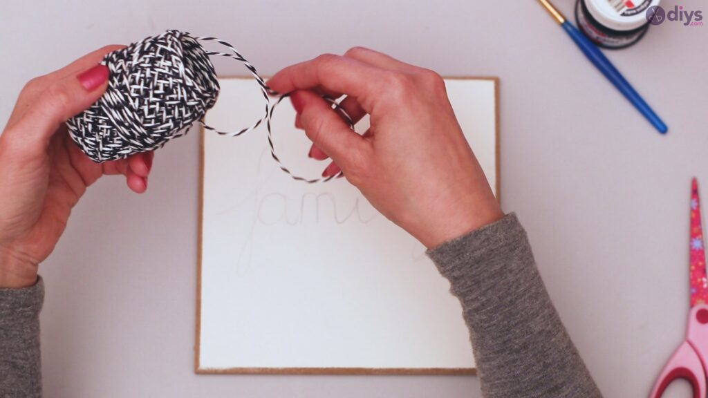 Twine string wall decor diy simple project (6)