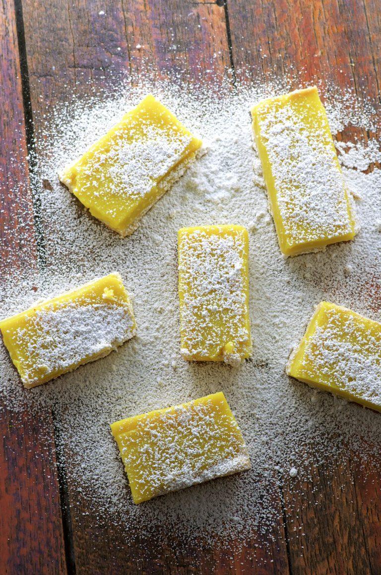 Vegan meyer lemon bars