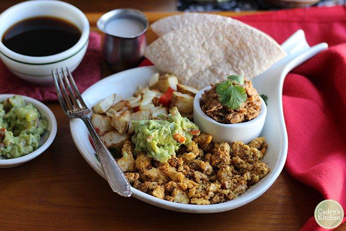 Austin vegan breakfast platter