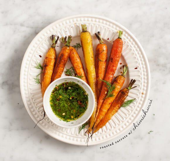 Carrot greens chimichurri