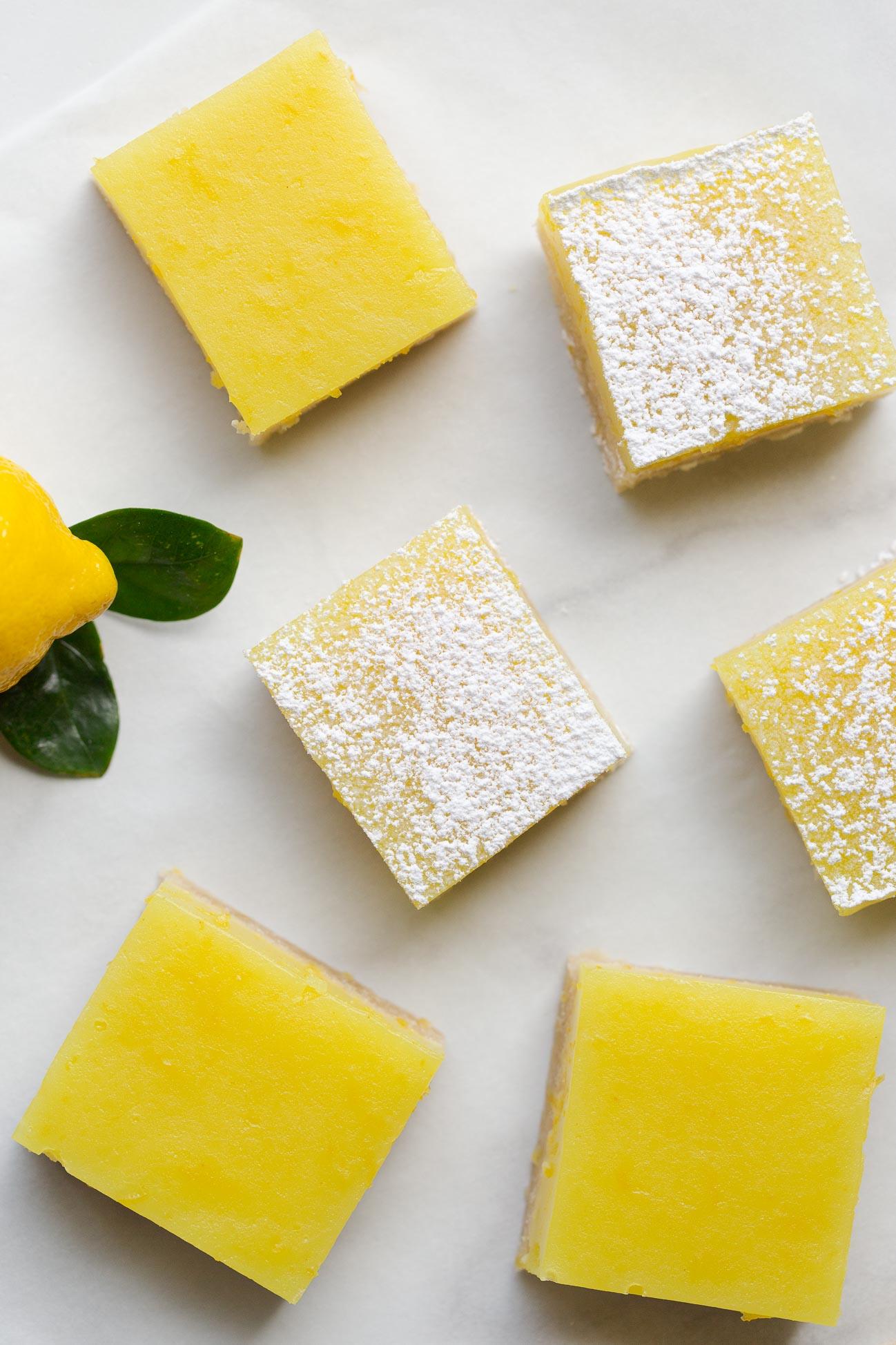 Easy lemon bars with shortbread crust