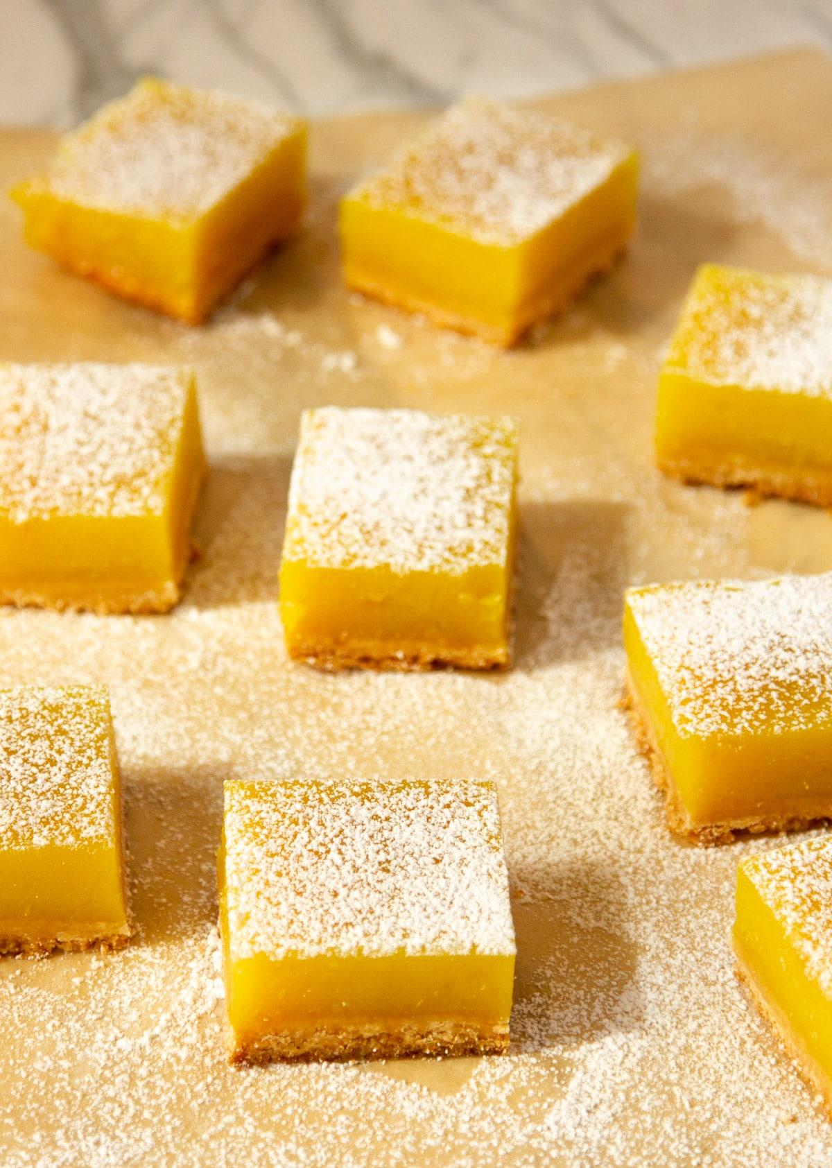 Eggless lemon bars