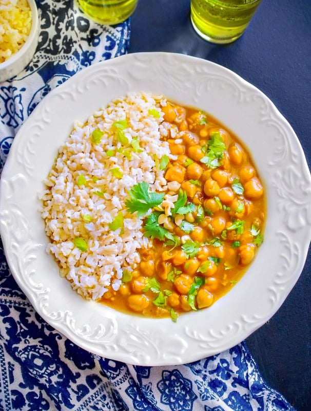 Quick moroccan chickpea stew