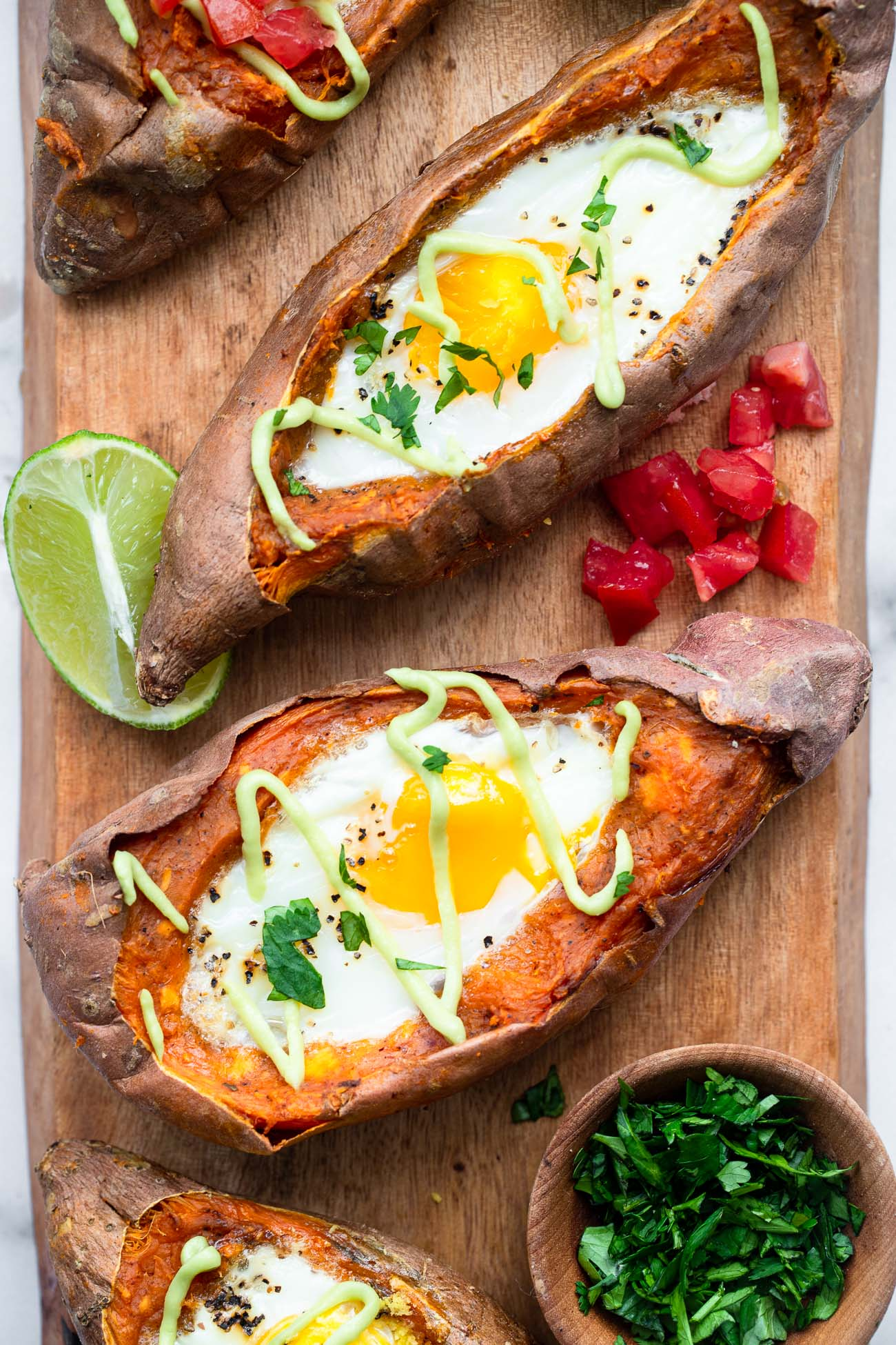 Twice baked mexican sweet potatoes pic