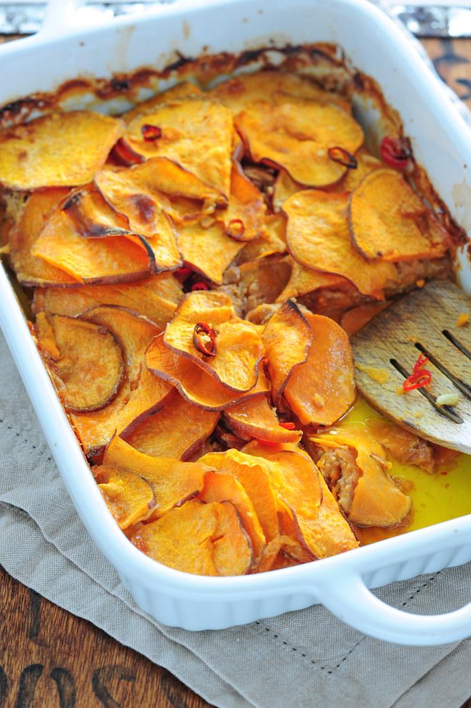 Adzuki bean & sweet potato bake