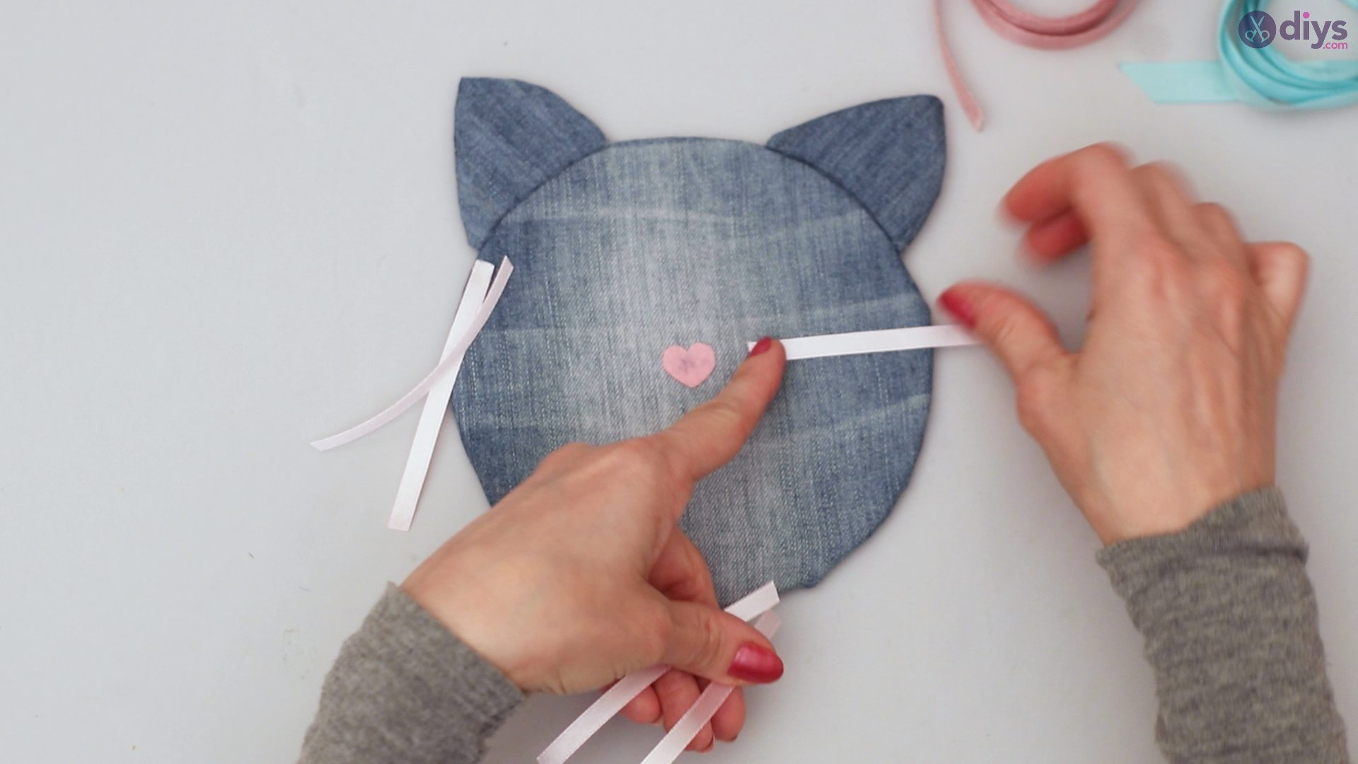 Cat face hair clip holder (41)
