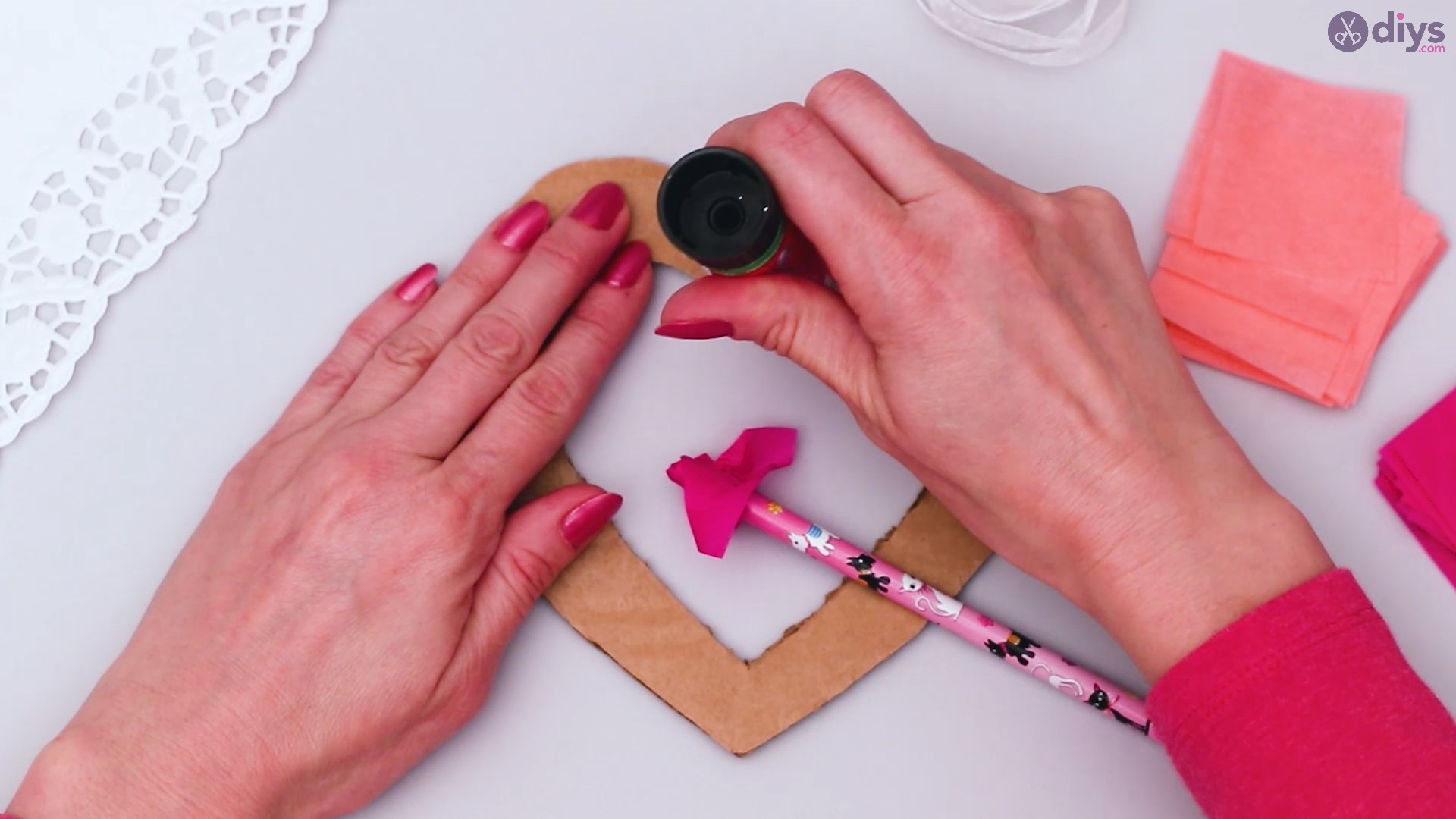 Diy tissue paper puffy heart step 1 (16)