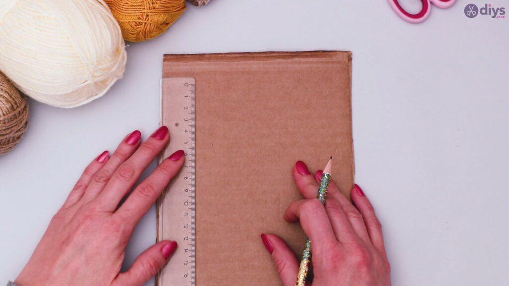 Diy yarn letter step by step craft