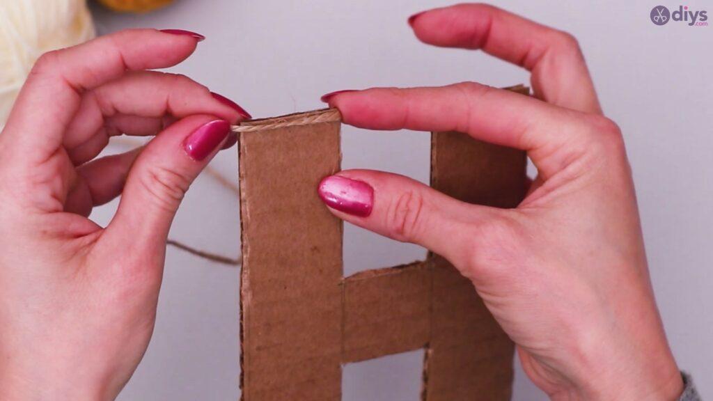 Diy yarn letter step by step craft (11)