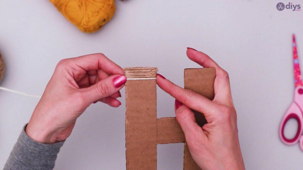 Diy yarn letter step by step craft (18)