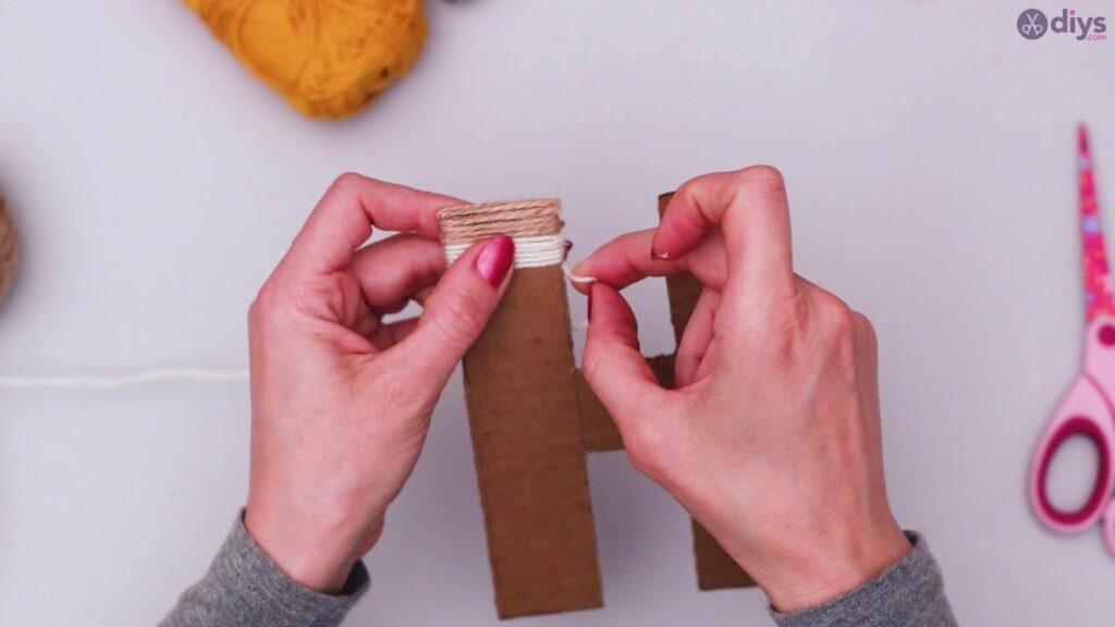 Diy yarn letter step by step craft (19)