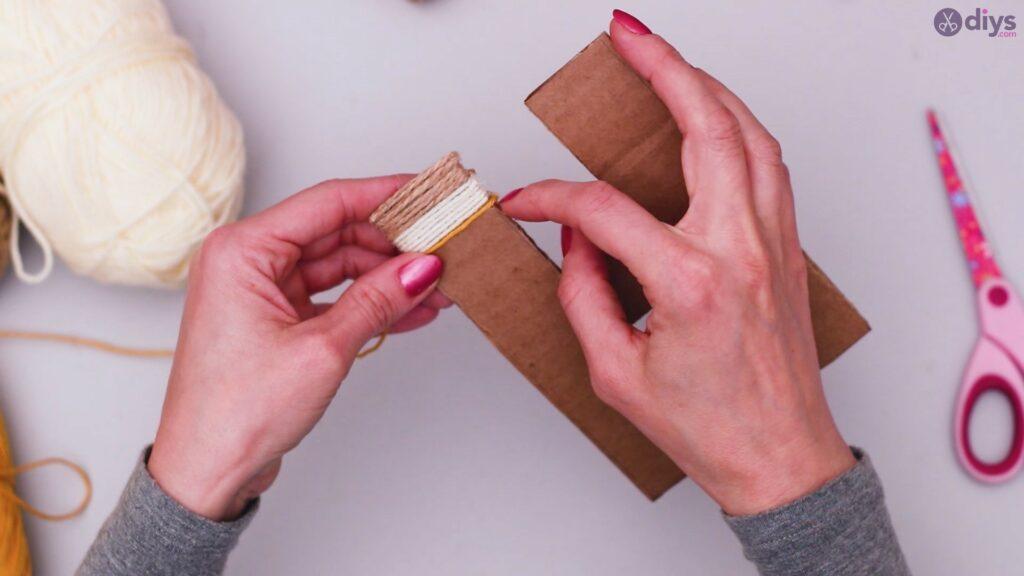 Diy yarn letter step by step craft (22)