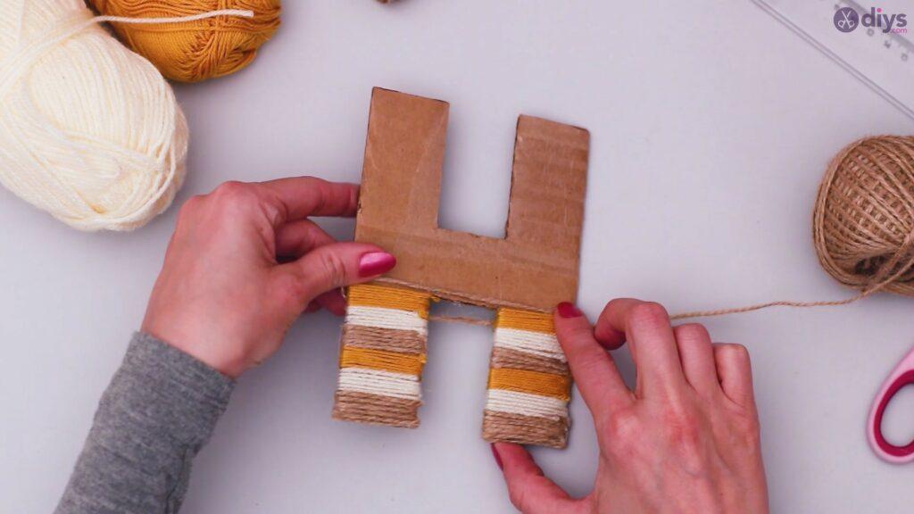 Diy yarn letter step by step craft (24)