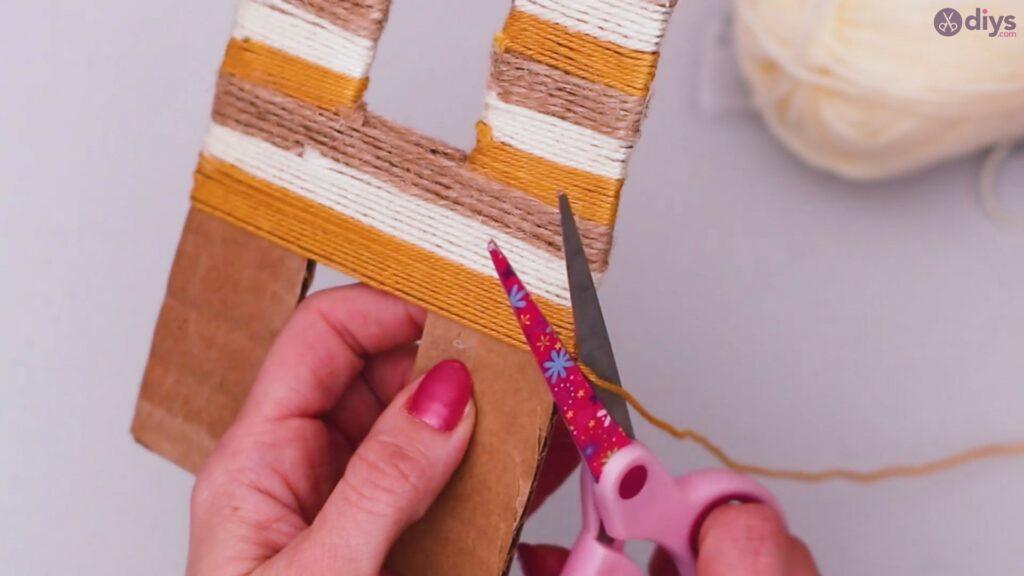Diy yarn letter step by step craft (34)
